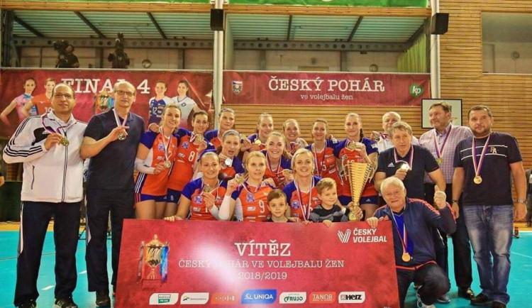 Olomoucké volejbalistky slaví velký úspěch, v Brně vyhrály Český pohár