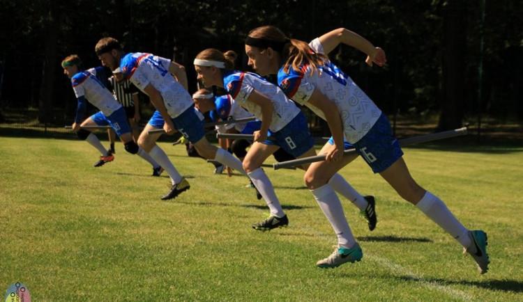 Mezinárodního turnaje ve famfrpálu v Německu se zúčastnila i česká reprezentace