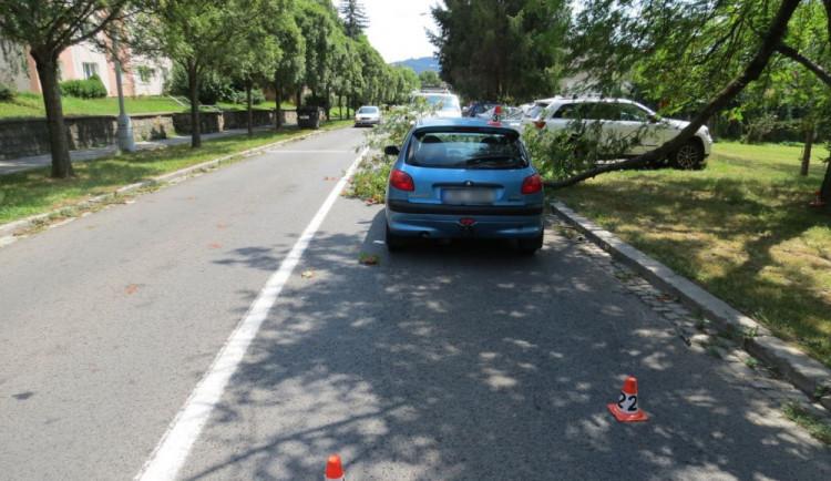 Policie žádá o pomoc svědky dopravní nehody, při které větev poškodila kapotu auta