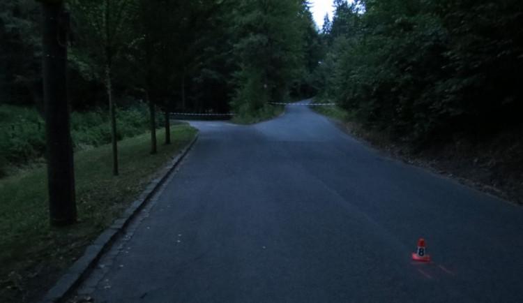 Cyklista bez přilby nezvládl řízení, havaroval a zemřel. Policie hledá svědky