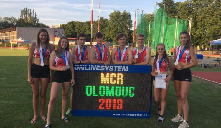 Mladí olomoučtí atleti vybojovali na mistrovství devět medailí
