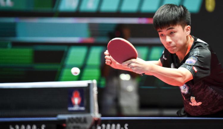 Czech Open ve stolním tenisu vyhrál osmnáctiletý Lin Jün-ťü