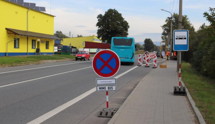 V Přerově se staví pět bezpečnějších autobusových zastávek. Práce budou dokončeny do konce roku