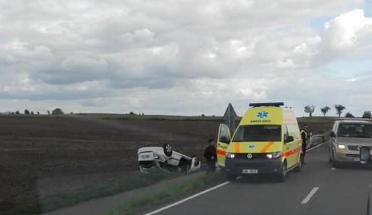Jedna osoba byla zraněna při nehodě na Olomoucku