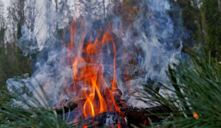 Muž na zahradě pálil hromadu větví. Hrozí mu pokuta až sto tisíc
