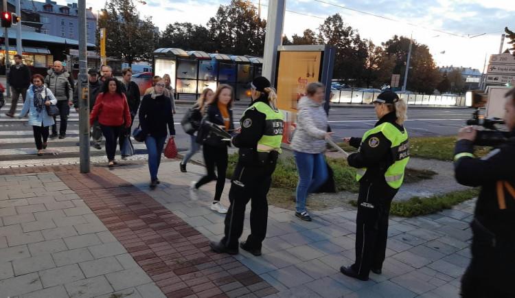 FOTO: Policisté v Olomouci kontrolovali cyklisty