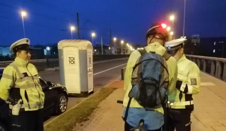 Policisté kontrolovali cyklisty v Olomouci. Při hodinové kontrole nezjistili žádné porušení zákona