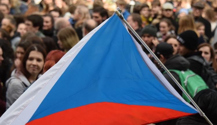 Studenti v Olomouci demonstrovali za ústavní hodnoty